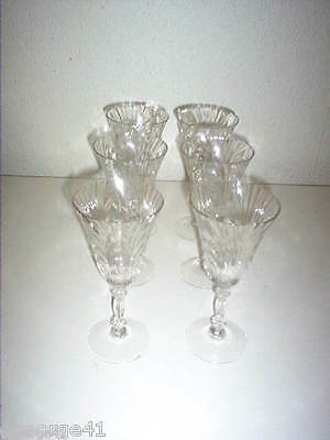 VINTAGE SET OF 6 CAPRICE 9 OZ. CLEAR GLASS WATER GOBLETS by CAMBRIDGE
