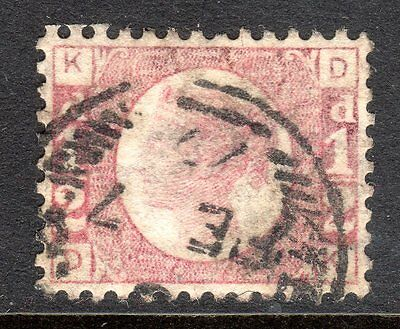 1870 1/2d Rose Plate 8 SG 49 Very Fine Used. Cat £120.00