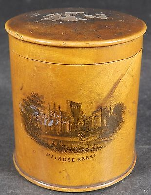 Antique Mauchlne Ware Lidded Pot Abbotsford And Melrose Abbey