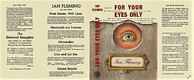Ian Fleming - For Your Eyes Only - Cape 1960 - Facsimile D/J Only - No Book