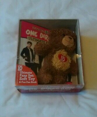 One Direction Gift Set Official 1D Soft Toy Bear & Ultimate Fans Book