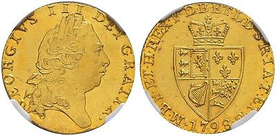UK Great Britain : George III guinea 1798 ngc ms 62 qfdc/fdc gold