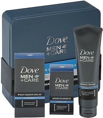 Dove Men +Care Face Care Essentials 3 PC Gift Set Tin (Cream, Balm, Moisturiser)