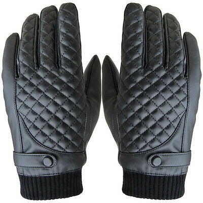 Men Driving Gloves NICE Winter Motorcycle Sports Leather Touch Screen Gloves