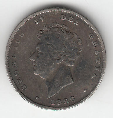 Gb Silver Shilling 1826 George Iv    246S       By Coinmountain