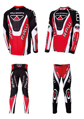 Trials scramble motocross red shirt and trousers
