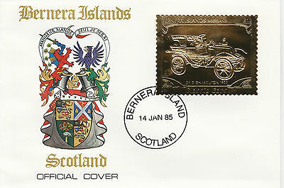 GB Locals - Bernera (2252) - 1985 Gold Cars De Dion Bouton on First Day Cover