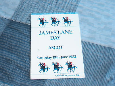 Ascot Race Card 19Th June 1982, Churchill Stakes, James Lane Handicap