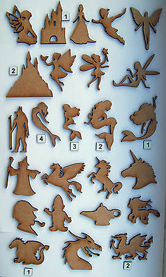 MDF Wooden Fantasy laser cut out shapes, craft making, decoration, embellishment