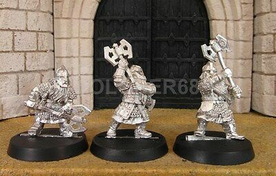 3 DWARF KHAZAD GUARDS - Lord Of The Rings Metal Figure(s)