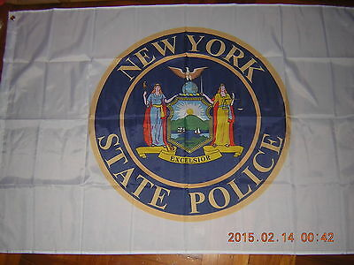 100% New Reproduced Flag of New York State Police Ensign NYC USA US 3ftX5ft