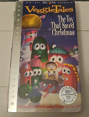 veggie tales the toy that saved christmas classic edition bonus footage vhs new - The Toy That Saved Christmas