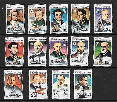 BRITISH  ANTARTIC TERRITORY  STAMPS  1973  14 FROM SET  15 (5p missing )
