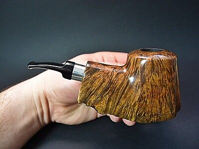 XXL AUTOGRAPH FREEHAND PIPE BRIAR (9mm FILTER) TADEUSZ POLINSKI TYPE ROCK