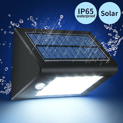 Solar Power 16 LED PIR Motion Activated Sensor Security Wall Light Lamp Outdoor