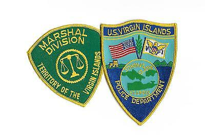 2 U.s. Virgin Islands Patches- Police & Marshal Patches-Nice Pair