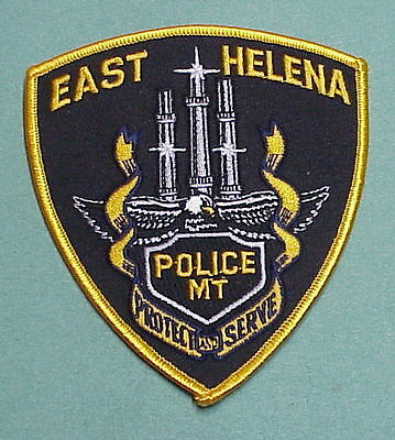 East Helena  Montana  Mt  Police Patch   Free Shipping!!!