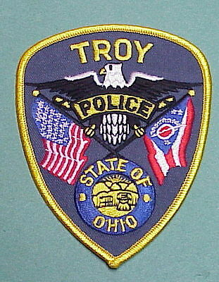Troy  Ohio  Oh  Police Patch   Free Shipping!!!