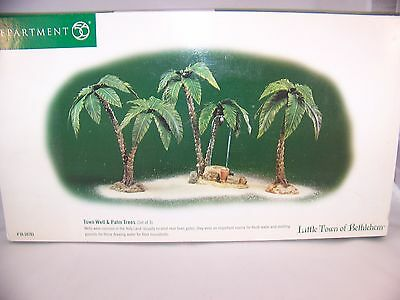 Retired 56 Town Well and Palm Trees Set of 3 Little Town of Bethlehem #59793