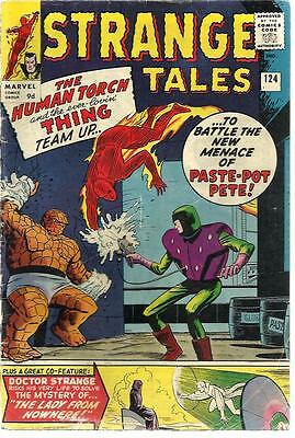 Strange Tales 124 Dated September1964. Very Good Condition.