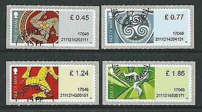 Isle Of Man 2017 Treskelion Definitives Post And Go Set Of 4 Fine Used