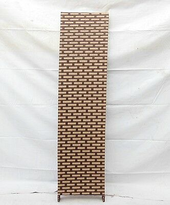 1X Coffee Knitted Room Divider 4 Panels Folding Screen - Brick Design