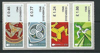 Isle Of Man 2017 Treskelion Definitives Post And Go Strip Of 4 Unmounted Mint,