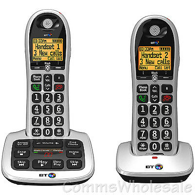 BT4600 (BT 4600) DECT Cordless Answer Machine with Large Buttons  etc -Twin