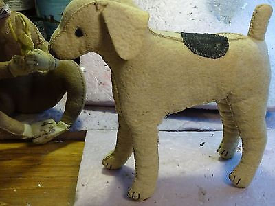 WOMENS WAR WORK felt , outer ,stuffed with ? 1930's exc dog & monkey