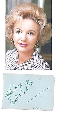 "MOIRA LISTER-""The Cruel Sea""-1953- Actress & TV Personality-Signed album page &"
