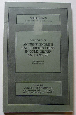 Kat. Sotheby´s, London (12.Nov.1980): Ancient, English..... and Russian coins