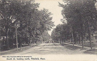 South Street Looking North PITTSFIELD Mass USA 1909 Rotograph Co. Postcard