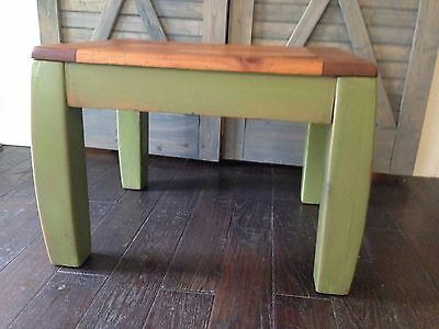 Rustic Side Table. Primitive Table.
