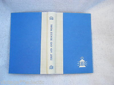 FIRST AID & RESCUE WORK GIRL GUIDES HANDBOOK 1946 with SKELETON MAP BY I. KAY