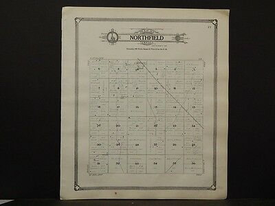 North Dakota Ramsey County Map, Northfield Township 1909  K7#37