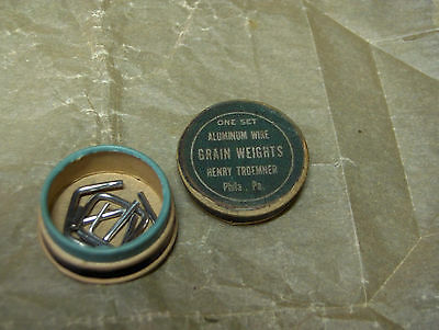 Vintage Troemner Apothecary Gold Scale Weight Set, Excelient Original Condition