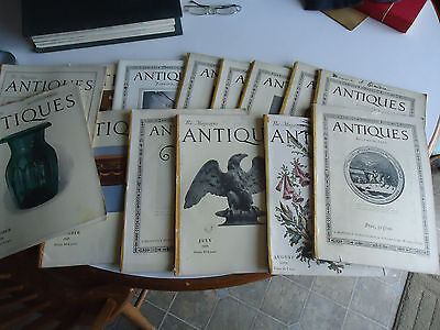 Antiques magazine vtg back issue 1920's 14 issues articles adds photos
