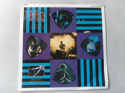 """7"""" Single Simple Minds, Don't you forget about me, mit Cover"""