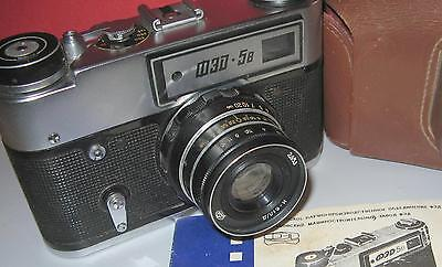 FED-5b vintage russian Leica copy camera with case RARE Ind-61 lens