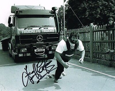 £2.99 Sale Geoff Capes Olympic Strongman Hand Signed 10 X 8 Photo Inc Coa