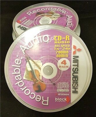 20 x Mitsubishi Black Diamond CD-R Audio Blank CDR 80 Min Music Compact Discs