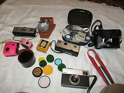 Job Lot Various Vintage Cameras And Accessories