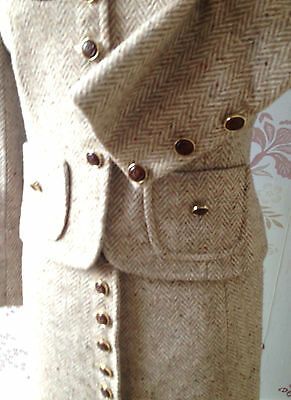 Edwardian Country Riding Wool Herringbone Skirt Jacket Suit By Jane Griffiths