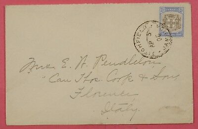 1905 Jamaica Cover Titchfield Cancel To Florence Italy