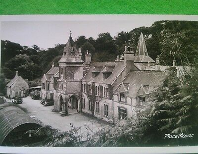 Vintage Real Photograph Postcard Place Manor Cornwall
