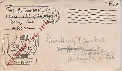 Kappysstamps Ks2565 Postal History  Wwii Soldiers Mail And Letter