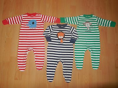 Lovely Next Baby Boys Three Babygrows Great Condition Size 3-6 Months