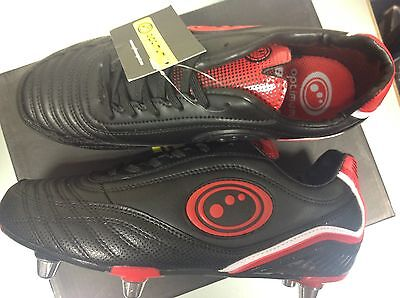 Brand New Optimum Blaze 3.0 Rugby Boot Size 6 Black Red