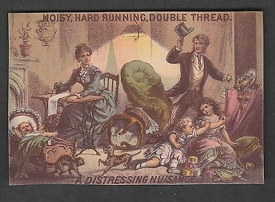 Victorian Trade Card Pair Willcox & Gibbs Sewing Machines