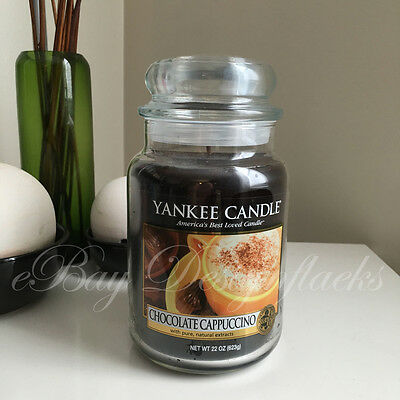 Yankee Candle ~ CHOCOLATE CAPPUCCINO ~ *Free Shipping* 22oz Large Jar